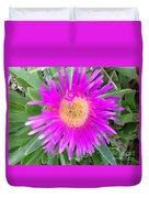 Pink Beach Succulent  Duvet Cover