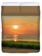 Beach Sunset Glory Duvet Cover