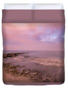 Beach Sunset In Connecticut Landscape Duvet Cover