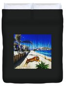 Beach Tiger  Duvet Cover