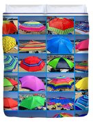 Beach Umbrella Medley Duvet Cover
