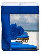 Beach Umbrellas 3 By Darrell Hutto Duvet Cover