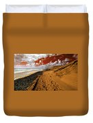 Beach Under A Blood Red Sky Duvet Cover