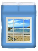 Beach View From Your Living Room Window Duvet Cover