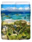 Beach Walk Duvet Cover