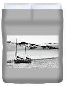 Beached At Coorong Bw Duvet Cover