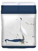 Beached Egret-bonita Beach Fl Duvet Cover