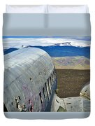 Beached Plane Wreckage - Iceland Duvet Cover