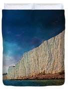 Beachy Head Lighthouse And Cliffs Duvet Cover