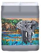 Beaded Elephant Duvet Cover