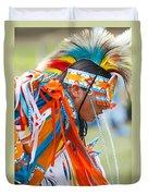 Beaded Pow Wow Dancer Duvet Cover