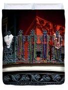 Beads In The French Quarter Duvet Cover