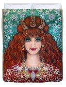 Sarah Goldberg Beauty Queen. Beadwork Duvet Cover