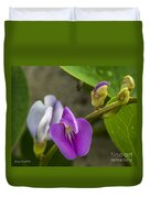 Beaked Butterfly Pea 9 Duvet Cover