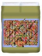 Beams Abstract Art Duvet Cover