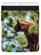 Bear Cub In A Tree 3 Duvet Cover