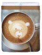 Bear Cup Latte  Duvet Cover