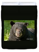 Bear Face Duvet Cover