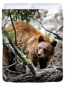Bear In Trees Duvet Cover