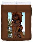 Bear In Wood Duvet Cover