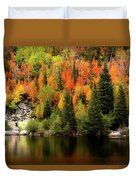 Bear Lake Autumn Duvet Cover