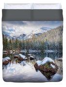 Bear Lake Holiday Duvet Cover