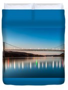 Bear Mountain Bridge At Dusk. Duvet Cover