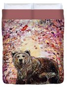 Bear With A Heart Of Gold Duvet Cover