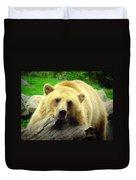 Bear On A Log Duvet Cover