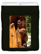 Bear On Trail Duvet Cover