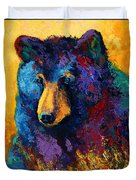 Bear Pause - Black Bear Duvet Cover