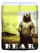 Brown Grizzly Bear Duvet Cover