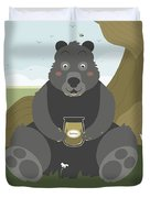 Bear With A Jar Of Honey Duvet Cover