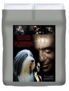 Bearded Collie Art Canvas Print - Hannibal Movie Poster Duvet Cover