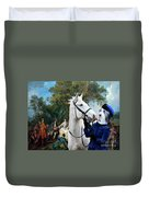 Bearded Collie Art Canvas Print - Picnic After The Hunt Duvet Cover