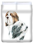 Bearded Collies Duvet Cover
