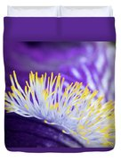 Bearded Iris Macro Duvet Cover