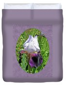 Bearded Iris Blossom Duvet Cover