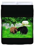 Bears In Love Duvet Cover