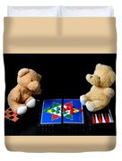 Bears Playing Halma Duvet Cover