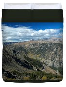 Beartooth Mountain Vista Duvet Cover