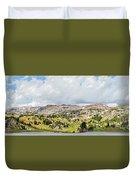 Beartooth Mountains Panorama Duvet Cover