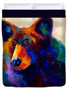 Beary Nice - Black Bear Duvet Cover