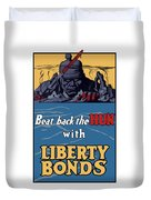 Beat Back The Hun With Liberty Bonds Duvet Cover