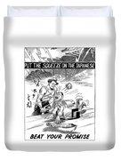 Beat Your Promise Cartoon  Duvet Cover