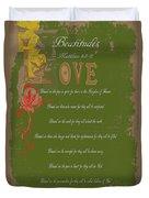 Beatitudes Duvet Cover