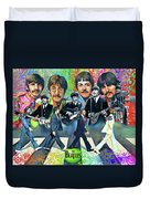 Beatles Fan Art Duvet Cover