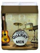 Beatles History  Duvet Cover