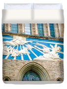 Beauiful Church Design In New York City Duvet Cover