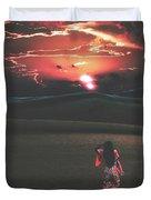Beauties Of The Desert At Sunset Duvet Cover